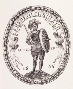 Bysegl Fredrikshald. Foto: Halden historiske Samlinger