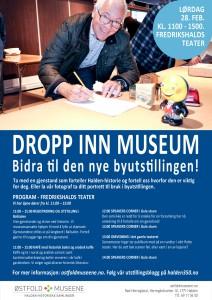 Program for dropp inn museum 28. februar. Klikk for større versjon.