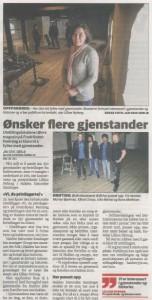 Halden Arbeiderblad besökte de nyoppussede lokalene i festningen.
