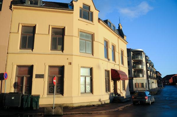 Omtrentlige stedet for blokkhuset Budde utenfor dagens Blokkhusgata. Foto: Svein Norheim / Halden historiske Samlinger