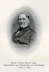 Christen Mamen Stang (1803-1881), eldre bror av Johan.