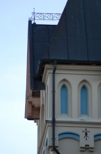 Detaljer fra Halden stasjonsbygning. Foto: Svein Norheim.