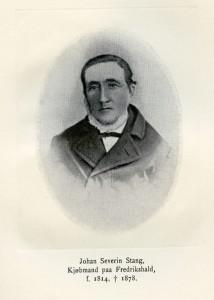 Johan Severin Stang (1814-1898), kjøpte eiendommen Johan Stangs plass 3 av broren Christen.