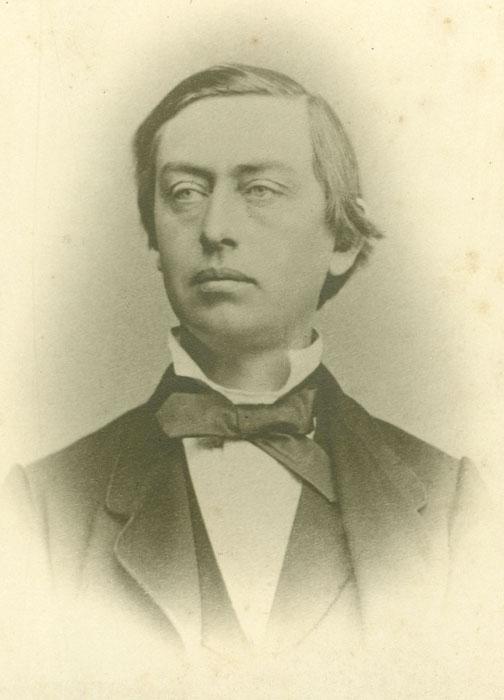 AM Wiel (1826-1900).  Foto: Halden historiske Samlinger